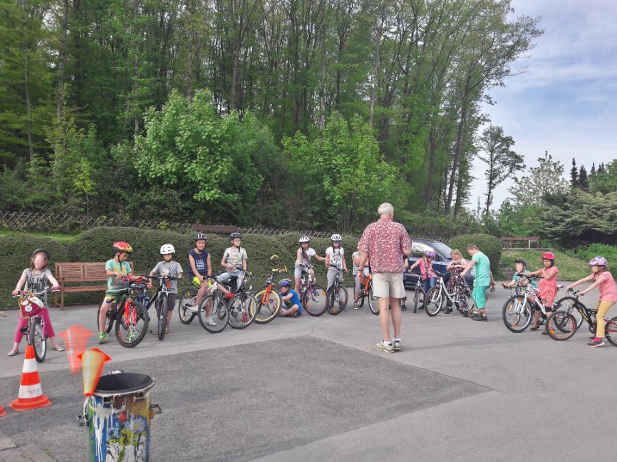 Teilnehmer des Fahrradturniers
